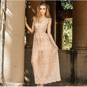 NWT Blush Lacey Maxi Dress S M L Threadzwear